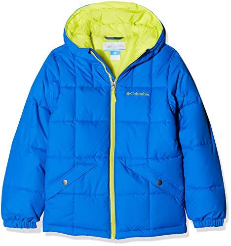 Columbia Wasserabweisende Jacke für Jungen, Gyroslope Jacket, Nylon, Blau (Super Blue/Zour), Gr. L, 1624361 Blau Nylon Jacke