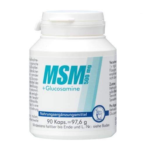 MSM 500 mg+Glucosamine Kapseln 90 St Kapseln