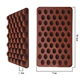 Chocolate Cake Cookie DIY Silicone Moulds Baking Mold 55 Coffee Bean Shaped
