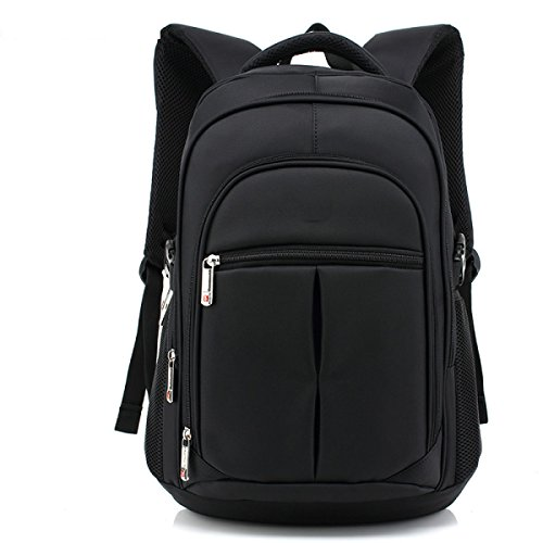 Wang Schultertasche Computer Tasche Männer Business Freizeit Oxford 28 * 14 * 44cm,Black -