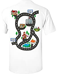 FATHERS DAY GIFT T-SHIRT PLAY MAT CHIDRENS CAR ADVENTURE SHIRT DADDYS GIFT FATHER & SON PLAY MAT T SHIRT