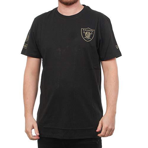 New Era Camo Collection Herren T-Shirt Oakland Raiders Schwarz, Größe:L