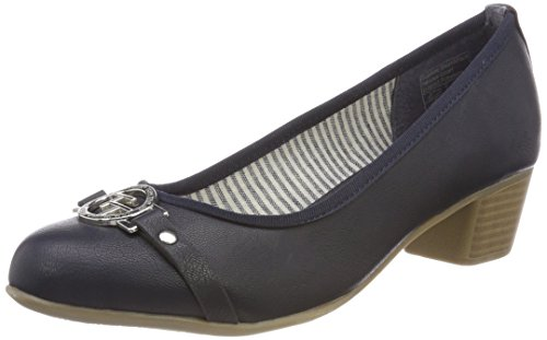 TOM TAILOR Damen 4892302 Pumps, Blau (Navy), 41 EU