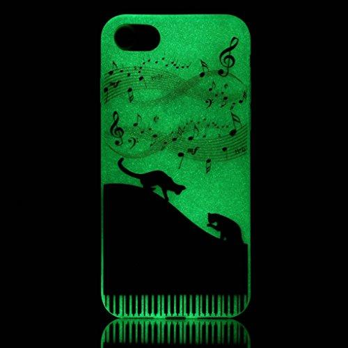 iPhone 7 / iPhone 8 Hülle, SATURCASE Schönes Muster Leuchtend Fluoreszierend Ultra Dünn Weich TPU Gel Silikon Schützend Zurück Case Cover Handy Tasche Schutzhülle Handyhülle Hülle für Apple iPhone 7 / Muster-3