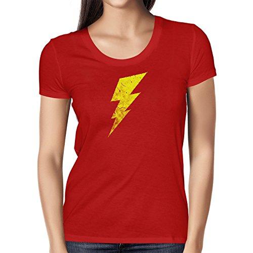 Flash - Damen T-Shirt, Größe M, Rot (The Big Bang Theory Superhelden Kostüme)