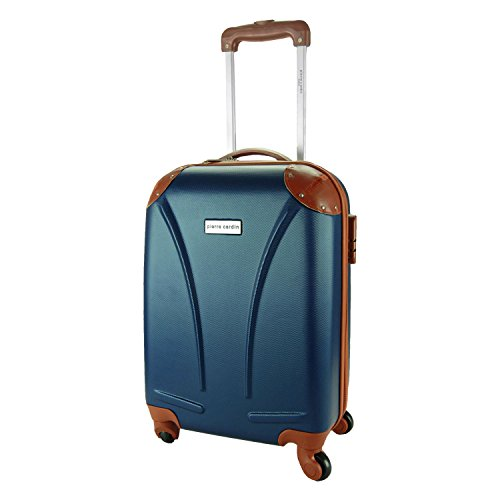 DFS512 Trolley rigido Pierre Cardin in ABS 4 ruote girevoli 48x34x20 cm. MEDIA WAVE store (Blu)