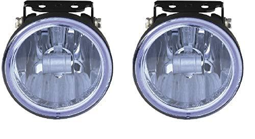 HABILL-AUTO Jeu de phares additionnels antibrouillard Bleu 12V 55W H3 Diam. 105mm