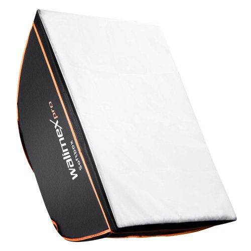 Walimex Pro 18969 Softbox (Orange Line, 60x90 cm, Universal Adapter) Broncolor Adapter