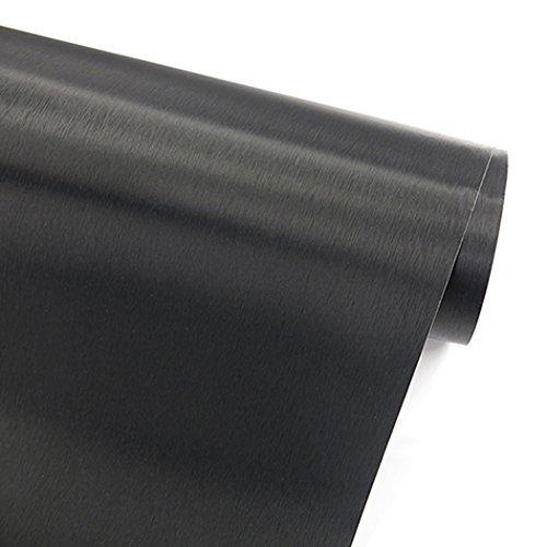 Papel adhesivo imitación de acero inoxidable con acabado de metal cepillado color...