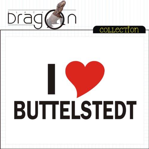 T-Shirt mit Städtenamen - i Love Buttelstedt - Herren - unisex Weiß