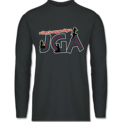JGA Junggesellenabschied - JGA PinUp Girls - Longsleeve / langärmeliges T-Shirt für Herren Anthrazit