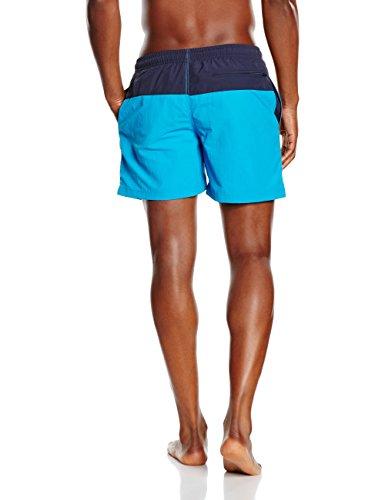 Urban Classics Herren und Jungen Badehose Badeshorts Block Swim Shorts in angesagten  Farben mit Netz Innenslip