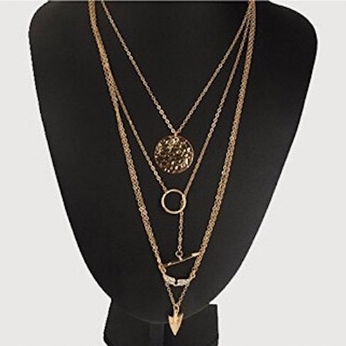 Blingg Bohemia Multilayer Arrow Necklace Gift for Girls/Women