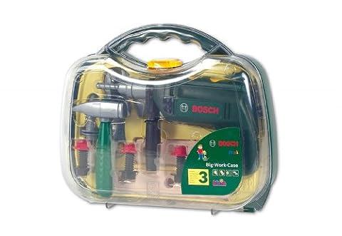 klein Bosch Werkzeugkoffer, groß, transparter Deckel (8416)
