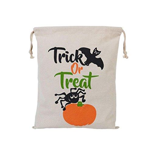 Sacchetto di Halloween, Longra Sacchetto del drawstring del sacchetto di stivaggio di Halloween della tela di canapa C