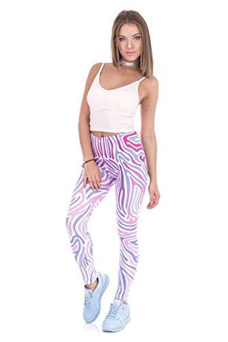 FRINGOO - Leggings sportivi -  donna Zebra Pink