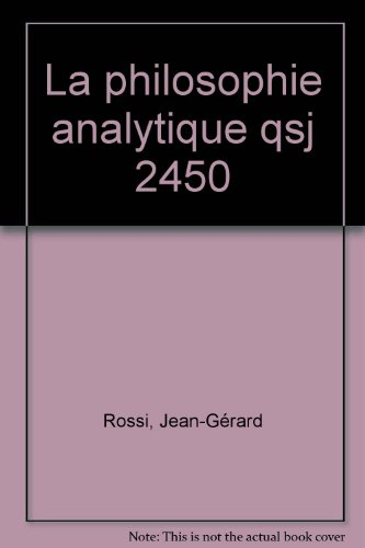 La philosophie analytique