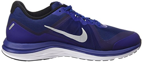 Nike Dual Fusion X 2, Chaussures de Running Compétition Homme Bleu (Deep Royal Blue/metallic Silver/black/reflect Silver/white/wolf Grey)