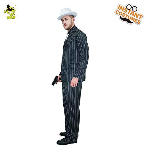 Gangster Für Erwachsenen Plus Kostüm - GAOGUAIG AA Deluxe Herren Gangster Kostüm