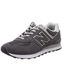 New Balance Homme 574 Baskets en Daim, Gris