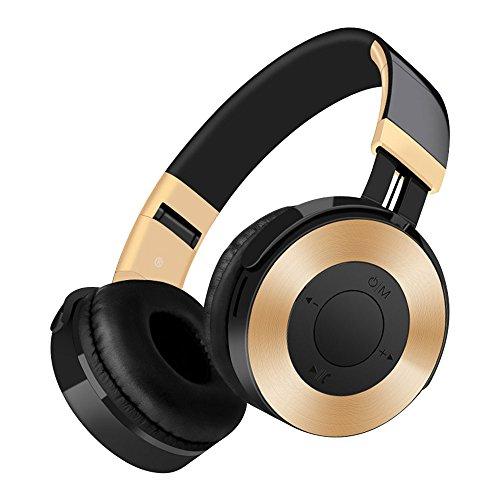 Bluetooth Kopfhörer, BT4.2 Wireless Headset / FM, Faltbare, Weiche Memory-Protein-Ohrenschützer über Ohr, w / Built-in Mic und 3.5MM Wired-Modus für PC / Handys / TV / Spiel.