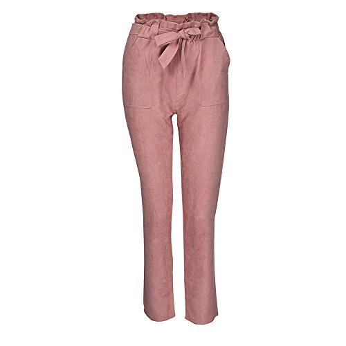 PAOLIAN Pantalones Pinzas para Mujer Verano 2018 Casual Pantalones de Vestir Estampado Cuadros...