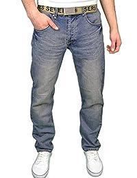 Seven Series Mens Designer Branded Regular Fit Straight Leg Jeans