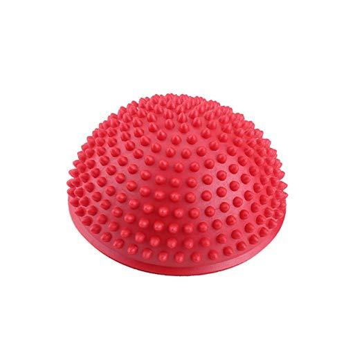 Dilwe Medias Pelotas de Yoga, Ejercicios inflables de PVC, Entrenador, Masaje, Punto, Fitball, Yoga, Bola de Equilibrio(Rojo)