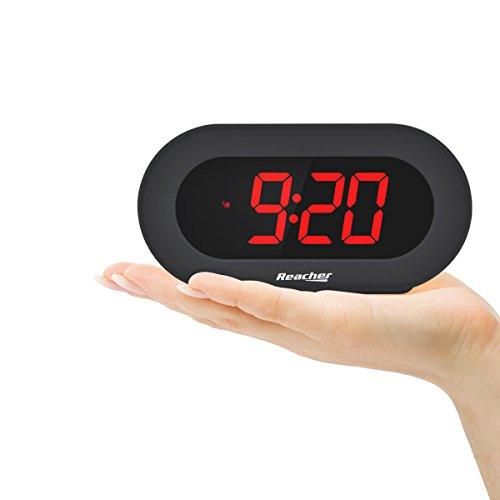 Reacher grande led sveglia digitale da comodino orologio da scrivania con funzione snooze - Orologio da tavolo digitale ...