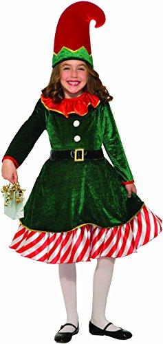 Santa's Lil Elf Child Costume, Medium Santas Lil Elf