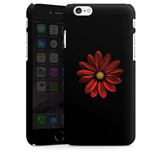 Apple iPhone X Silikon Hülle Case Schutzhülle Blume Rot Muster Premium Case matt