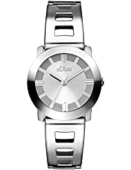 s.Oliver Damen-Armbanduhr XS Analog Quarz Edelstahl SO-2915-MQ