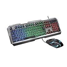 Trust GXT 845 Tural Gaming toetsenbord en muis, zwart