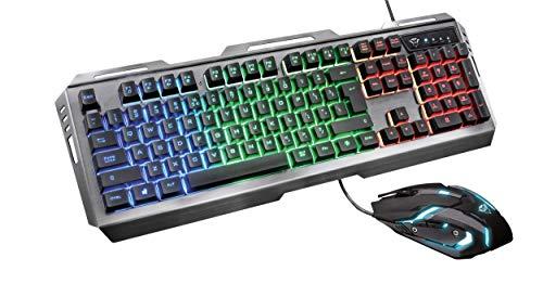 Trust Gaming GXT 845 Tural, Mouse + Tastiera, Combo da Gioco, Nero