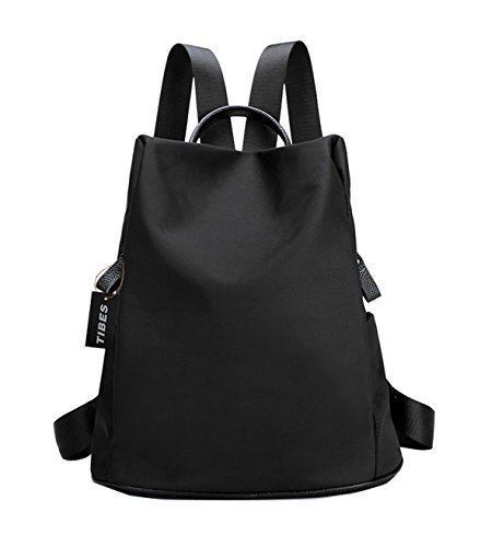 Tibes Mochila escolar mochila ligera impermeable para las mujeres mochila mujer bolsos mochila mochila Negro