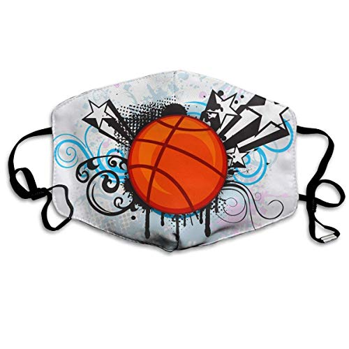 Maske Basketball Kostüm - Masken, Masken für Erwachsene, Unisex Unique Mouth Mask, Abstract Sports Basketball Graphics Polyester Anti-dust Masks - Fashion Washed Reusable Face Mask for Outdoor Cycling