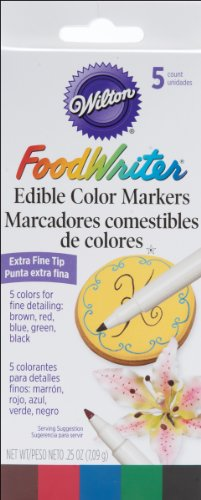 Wilton 489754 Extra Fine Foodwriter Marcadores 5 Pkg