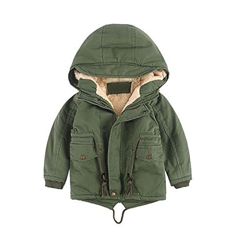 Manteau à capuche Bébé Garçons Zipper Blousons Automne Hiver Longra