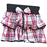 Mogul Interior Womens Mini Skirt White Red Checks Print Design Retro Skirts