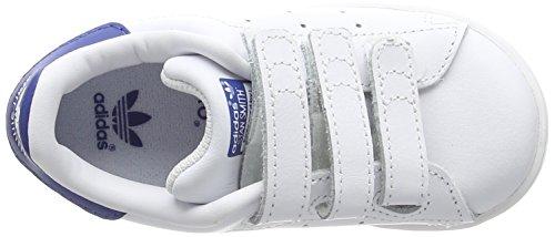 adidasStan Smith CF - Scarpe Primi Passi Unisex – Bimbi 0-24 Bianco (Ftwwht/ftwwht/eqtblu)