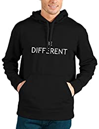 Bookmytees Be Different Full Sleeves Printed Cotton Hoodie For Men