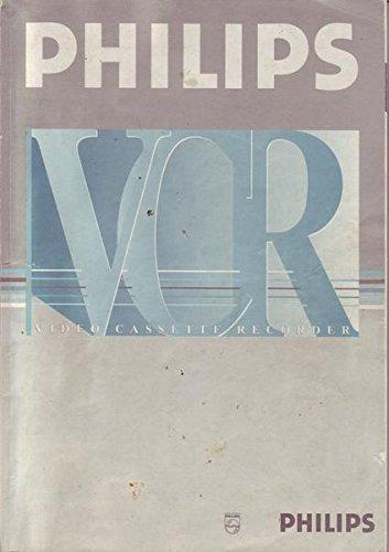 Philips VCR Video Cassette Recorder Bedienungsanleitung VR 165