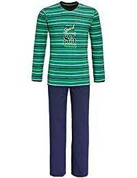 Pyjama long pour homme, couleur vert émeraude, taille 48-56