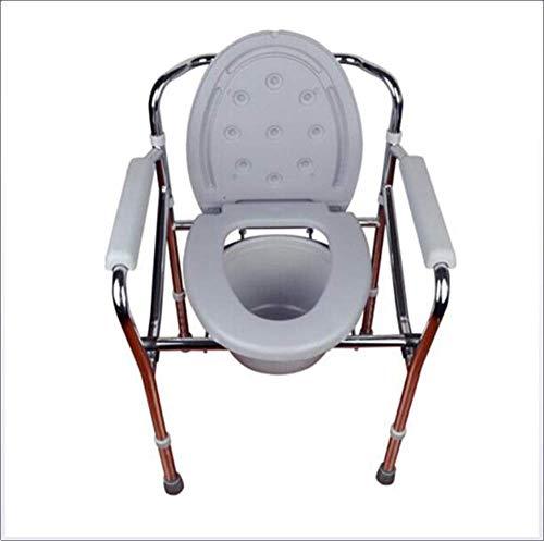 Tragbare Toilette Drop Arm Kommode Mobilitätshilfe für Erwachsene ältere behinderte Menschen Schwangere medizinische Stuhl Bad Dusche Wc-Sitz -