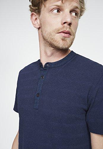 ARMEDANGELS Herren Henley Shirt aus Bio-Baumwolle - Owen - GOTS, ORGANIC, CERES-008 Navy Melange