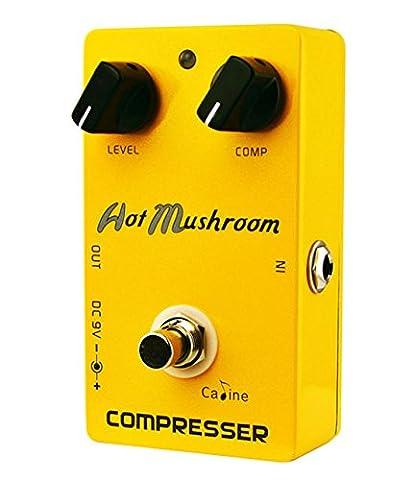 fitTek® Caline CP-10 Compressor Guitar Effect Pedal Hot Mushroom Aluminum