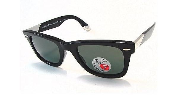 9d07b845ae2c Ray Ban RB 2157-K Wayfarer 2157K Limited 18K White Gold Sunglasses Black  901 Polarized  Amazon.co.uk  Clothing