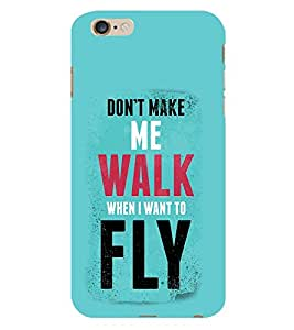 Vizagbeats Walk and Fly Back Case Cover for Apple Iphone 6S