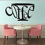 Adesivo Da Parete Adesivo Da Parete Fai Da Te Tazza Di Caffè Per Soggiorno Cucina Complementi Arredo Casa Carta Da Parati Rimovibile Wall Art Decal Caffetteria Decorazione