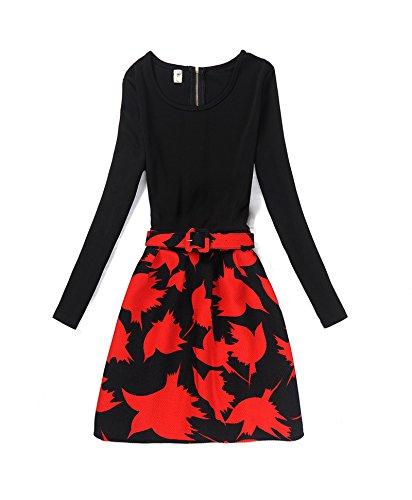 Hippolo Herbst- und Winterkleid für Frauen im Vintage-Look und langen Ärmeln 9 M